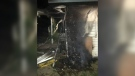Four friends extinguished a fire engulfing the Blue Willow Inn in Wadena, Sask.