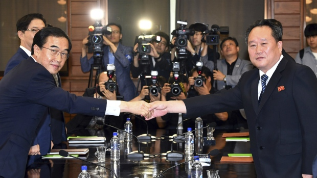 South, North Korea officials meet