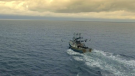 """A fishing boat seen in the show """"Cold Water Cowboys"""" has got fire. (Cold Water Cowboys/Twitter)"""
