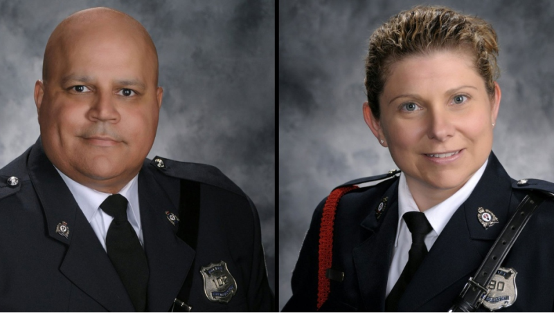Constables Robb Costello and Sara Burns died while responding to reports of shots fired at an apartment complex on the city's north side the morning of Aug. 10, 2018.