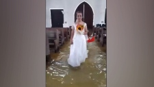Monsoon doesn't dampen couple's wedding day