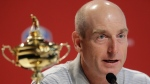 2018 U.S. Ryder Cup Team Captain Jim Furyk speaks during a news conference at Bellerive Country Club, Monday, Aug. 13, 2018, in St. Louis. (AP Photo/Darron Cummings)