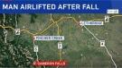 Man falls in Waterton Lakes National Park