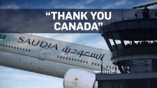 Saudi pilot's polite goodbye to Canada