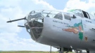 This B-52 bomber, The Maid in the Shade, saw action on the island of Corsica in the Mediterranean. Following the war, every detail was restored, including rounds in the nose cone, and a faux bomb ready to be dropped. (CTV Montreal)