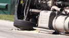 Charges expected after turning truck tips over