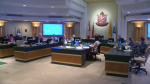 Waterloo City Council discussing proposed zoning by-law change.
