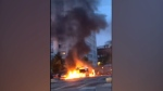 Vehicles set ablaze in Sweden mall parking lot