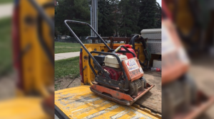 Compactor stolen from a construction site in Guelph (Photo: Guelph Police)