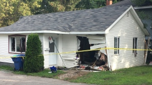 Car smashes into two houses on South Shore | CTV News