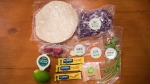 Some of the contents of a Hello Fresh cajun fish tacos meal kit are displayed by Jayne Zhou before preparing it at her home in Vancouver, B.C., on Wednesday December 6, 2017. THE CANADIAN PRESS/Darryl Dyck