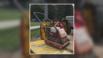 Thieves steal construction equipment on bikes