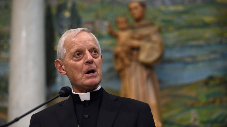 In this June 30, 2015, file photo, Cardinal Donald Wuerl, archbishop of Washington, speaks while outlining the schedule for Pope Francis' September 2015 visit to Washington, during a news conference at the Cathedral of St. Matthew the Apostle in Washington. (AP Photo/Susan Walsh)