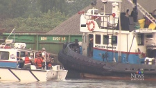 Crew rescued after tugboat capsizes on Fraser Rive