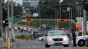Standoff with armed man closes Highway 440 in Laval | CTV News