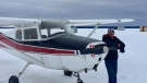 Scott Schneider was on his way from Edson to Westlock on this Cessna 172 plane. (Supplied)