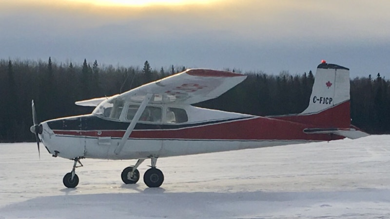 RCMP asked land owners in Barrhead, Mayerthorpe and Evansburg to search their lands for this Cessna 172. (Supplied)