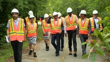 Federal ministers, NCC on tour of Voyageur Pathway