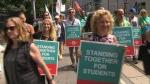 elemntary teacher protest