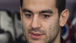 Montreal Canadiens captain Max Pacioretty speaks to reporters during an end of season news conference in Brossard, Que., Monday, April 9, 2018. (THE CANADIAN PRESS/Graham Hughes)