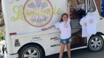 Ten-year-old Cassidy Evans stands in front of her lemonade stand truck. (Courtesy: Kimberly Evans)