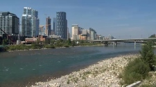 Bow River - Calgary skyline