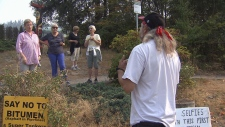 Residents fed up with pipeline protest camp
