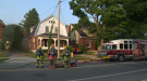 Fire on Courtland Avenue in Kitchener leads to smoke damage throughout the house.