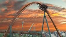 The Yukon Striker roller coaster will take its riders along 1,100 metres of mountainous track. (Canada's Wonderland)