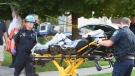 A young cyclist was taken to hospital after being run over by a car in a driveway in Oakville, Ont., on Tuesday, Aug. 14, 2018.