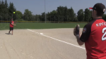 Local fastball players compete for Canada in Saskatchewan.