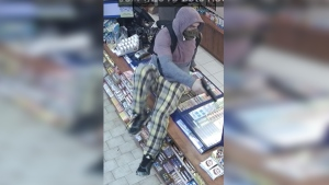 Police are looking to identify the male pictured here in connection to a robbery