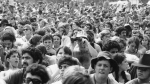 This 1969 file photo shows the crowd at the Woodstock Music and Arts Festival held on a 600-acre pasture in the Catskill Mountains near White Lake in Bethel, N.Y., (AP Photo, file)