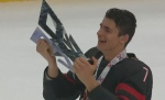 Braden Schneider wins gold at Hlinka Gretzky Cup