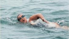 Swimming from Whitefish Point to Pancake Bay