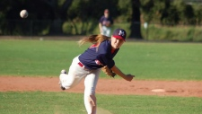 Female Baseball star, trains for the Worlds