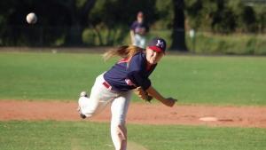 Female Baseball star, trains for the Worlds