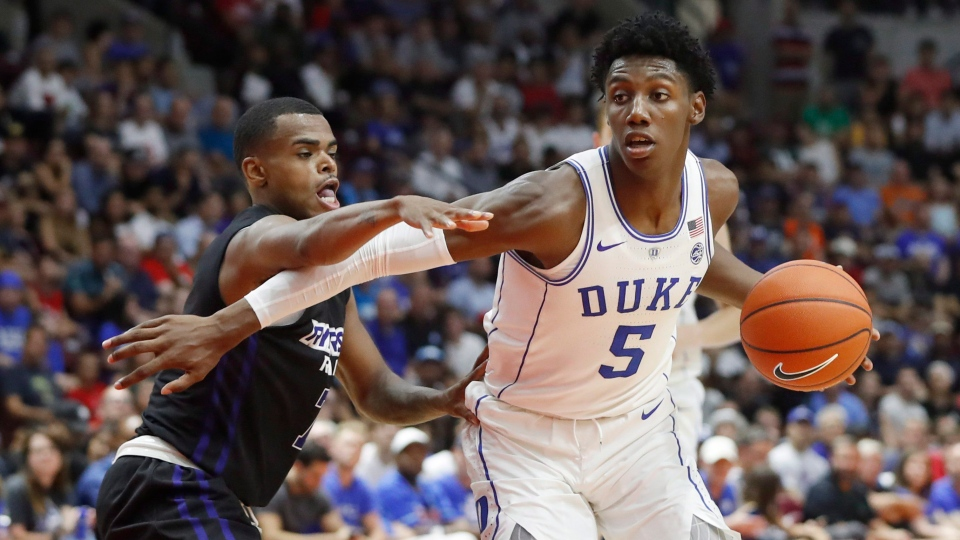 836f30dcb6c Canadian basketball phenom R.J. Barrett leads Duke to pre-season win ...