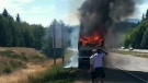 Woman raises concerns after witnessing car fire