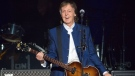 """In this Monday, July 10, 2017 file photo, Sir Paul McCartney performs at Amalie Arena in Tampa, Fla. McCartney released a new single on Wednesday called """"Fuh You,"""" where the key line contains a fudged version of a common obscenity. The 76-year-old former Beatle described it in a news release as """"sort of a love song, but a raunchy love song."""" (AP Photo/Scott Audette, File)"""