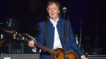 "In this Monday, July 10, 2017 file photo, Sir Paul McCartney performs at Amalie Arena in Tampa, Fla. McCartney released a new single on Wednesday called ""Fuh You,"" where the key line contains a fudged version of a common obscenity. The 76-year-old former Beatle described it in a news release as ""sort of a love song, but a raunchy love song."" (AP Photo/Scott Audette, File)"