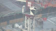 Crane rescue in Toronto