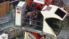 crane rescue operation in Toronto