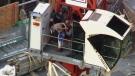 Construction crane arrest in Toronto