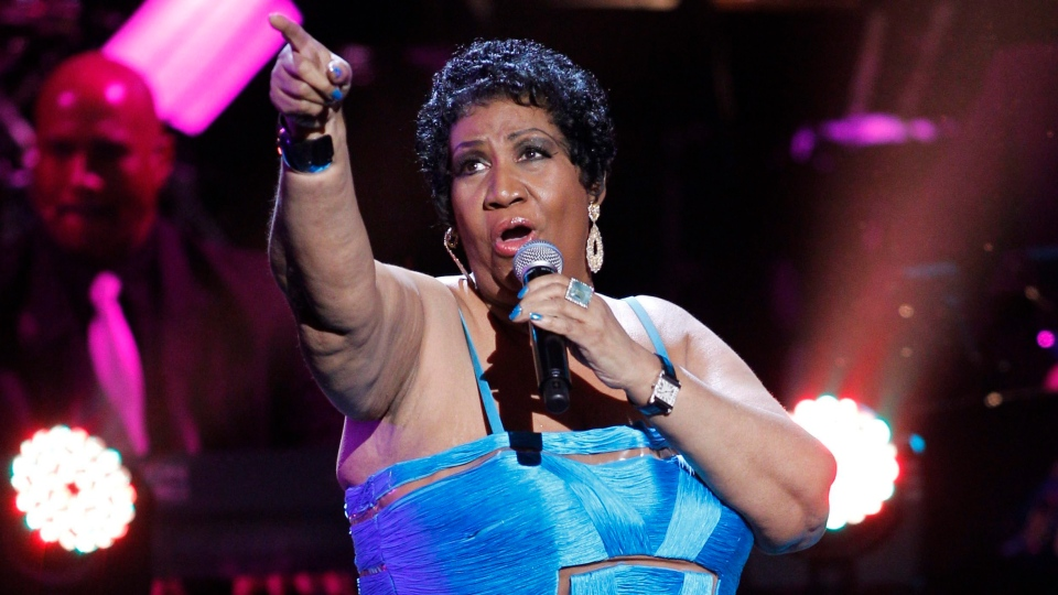 Aretha Franklin performs during the BET Honors at the Warner Theatre in Washington, Jan. 14, 2012. (AP Photo/Jose Luis Magana)