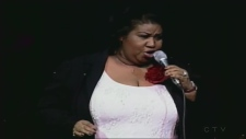 Aretha Franklin in London in 2003