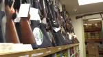Guns displayed at Shooter's Choice.