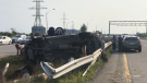 Five people in hospital after crash on 174