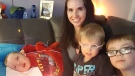 Melissa Huitema and her sons Cade (5), left to right, Kean (3) and Kai (7) are seen in this undated handout photo. THE CANADIAN PRESS/HO, Melissa Huitema *MANDATORY CREDIT*