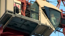 Woman climbs crane near Bathurst
